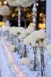 Decoração da tabela do casamento fotografia de stock royalty free