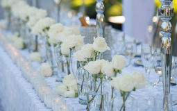 Decoração da tabela do casamento Imagem de Stock Royalty Free