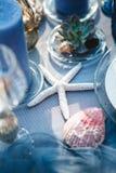 Decoração da tabela do casamento Fotos de Stock Royalty Free