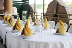 Decoração da tabela do casamento casamento Fotografia de Stock Royalty Free