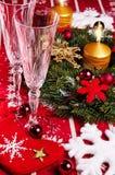 Decoração da tabela do Natal Imagem de Stock