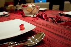 Decoração da tabela do Natal Fotografia de Stock Royalty Free