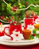 Decoração da tabela do Natal Imagens de Stock