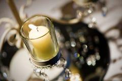 Decoração da tabela dos candelabros fotografia de stock royalty free