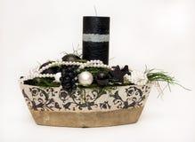 Decoração da vela do Natal Fotos de Stock Royalty Free