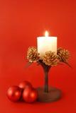 Decoração da vela do Natal imagem de stock royalty free