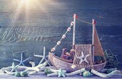 Decoração da vida marinha Fotografia de Stock Royalty Free