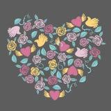 Decoração dada forma coração do Valentim Fotos de Stock Royalty Free
