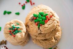 Decoração das cookies do Natal fotografia de stock royalty free