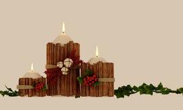 Decoração das velas do Natal ilustração do vetor