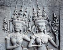 A decoração de Ap-sara no canto de Angkor Wat, emenda colhe, C Imagem de Stock
