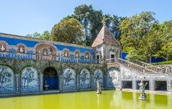 Decoração de Azulejo em marqueses do palácio da área de Fronteira em Lisboa - Portugal Fotografia de Stock Royalty Free