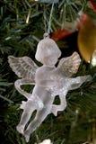 Decoração de cristal do Natal do anjo fotos de stock
