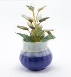 Decoração de cristal verde natural da árvore Imagens de Stock