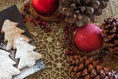 Decoração de Holly Christmas fotografia de stock