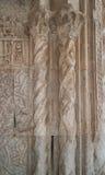 Decoração de mármore em portas de Sultan Han da caravançará Foto de Stock