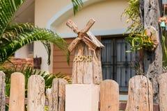 Decoração de madeira da casa Imagens de Stock Royalty Free