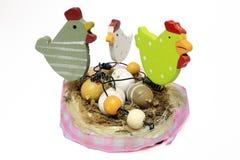 Decoração de madeira do ovo da páscoa Imagens de Stock Royalty Free