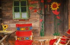 Decoração de madeira velha da casa Imagem de Stock