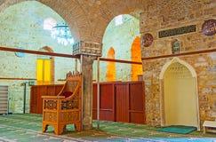 Decoração de Ulu Alaaddin, mesquita de Yivliminare de Antalya Imagens de Stock Royalty Free