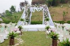 Decoração de uma cerimônia de casamento Fotografia de Stock