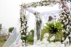 Decoração de uma cerimônia de casamento Fotografia de Stock Royalty Free