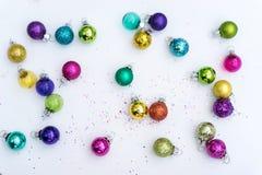 Decoração de vidro do Natal multicolorido Imagem de Stock Royalty Free