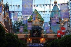 Decoração do aniversário da avenida de parque temático Fotografia de Stock Royalty Free