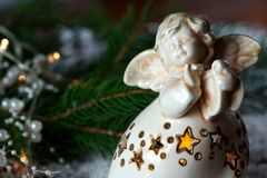 Decoração do anjo do Natal foto de stock royalty free