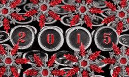 Decoração do ano novo, 2015 Fotografia de Stock Royalty Free