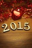 Decoração 2015 do ano novo Fotografia de Stock Royalty Free