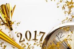 Decoração 2017 do ano novo Fotografia de Stock Royalty Free