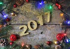 decoração do ano 2017 novo Fotos de Stock