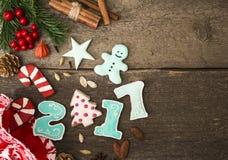 Decoração 2017 do ano novo Foto de Stock