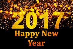 Decoração do ano novo, close up em fundos dourados Fotografia de Stock