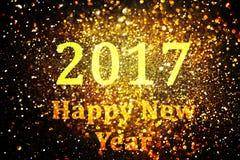 Decoração do ano novo, close up em fundos dourados Imagens de Stock