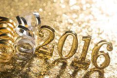 Decoração do ano novo com 2016 fotos de stock
