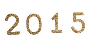 Decoração 2015 do ano novo com números dourados Imagens de Stock Royalty Free