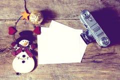 Decoração do ano novo e do Natal imagens de stock