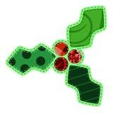 Decoração do azevinho da tela ilustração royalty free