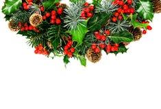 Decoração do azevinho do Natal Fotos de Stock Royalty Free