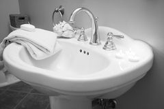 Decoração do banheiro Fotos de Stock Royalty Free