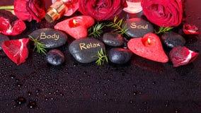 Decoração do bem-estar, conceito dos termas em Valentine& x27; dia de s fotos de stock royalty free