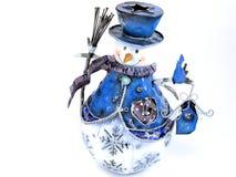 Decoração do boneco de neve Fotografia de Stock Royalty Free