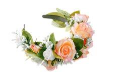 Decoração do cabelo feito a mão Flores cor-de-rosa foto de stock royalty free