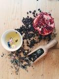 Decoração do café do chá foto de stock royalty free