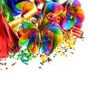 Decoração do carnaval festões, flâmula e confetes Fotos de Stock Royalty Free