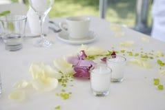 Decoração do casamento Fotos de Stock Royalty Free