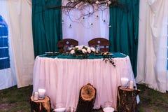Decoração do casamento Fotografia de Stock
