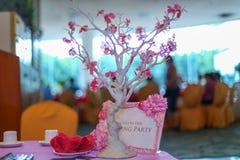 A decoração do casamento Imagem de Stock